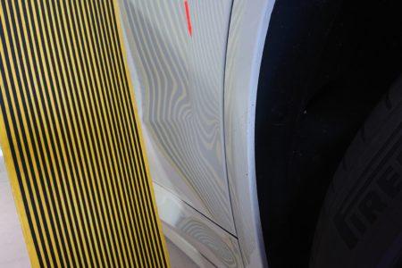 BMW  X3  リヤドア下のデントリペア